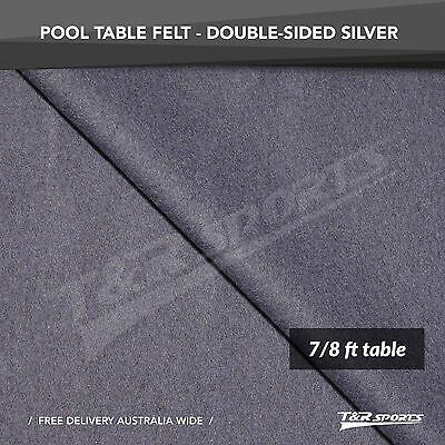 Silver Double-sided Wool Pool Snooker Table Top Cloth Felt for 7''/8''
