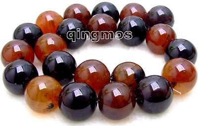 """SALE Big 18mm perfect Round multicolor Natural agate Beads Strand 15""""-los230"""