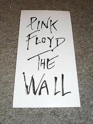 Pink Floyd - The Wall - Original Promo Sticker