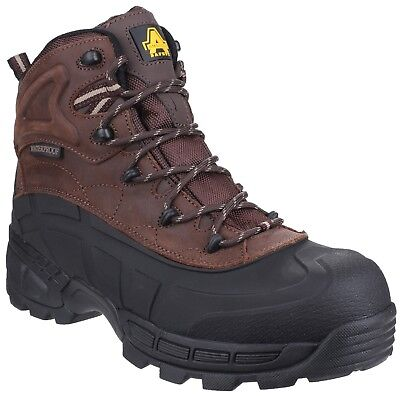 Amblers FS430 Orca Waterproof Safety Work Boots Brown 6-12 Non Metal Hybrid