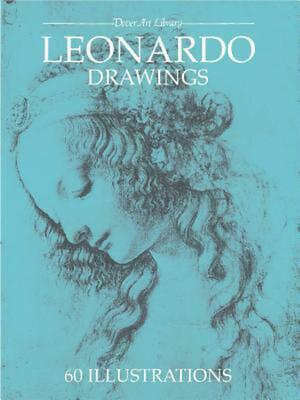 Leonardo Drawings by Leonardo Da Vinci (English) Paperback Book Free Shipping!