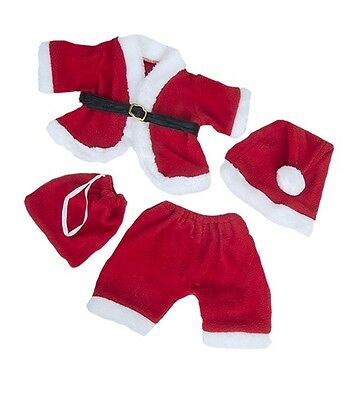 "Santa Claus Father Christmas outfit teddy Bear clothes fit 15"" Build a Bear"