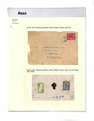 AQ263  NEPAL to India Calcutta. Cover with local stamps.  x2