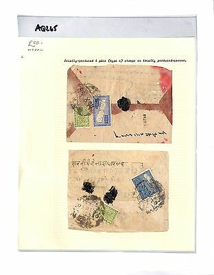 AQ265  NEPAL. Cover with local stamps 4 pice (type C).  x2