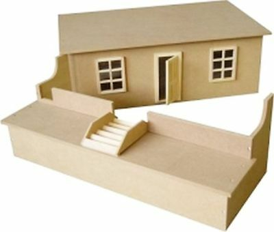 Small Unpainted Basement  Kit for 1:12 Scale Dolls Houses