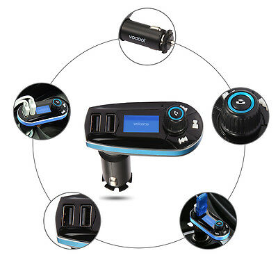 VODOOL Bluetooth 2.1 Car Kit MP3 Player FM Transmitter LCD Dual USB Charger