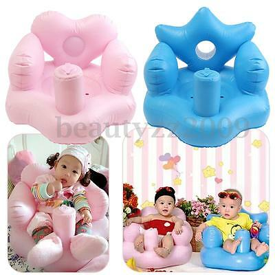New Inflatable Baby Sofa Toddlers Sit Up Stool Training Seat Dining Bath Chair
