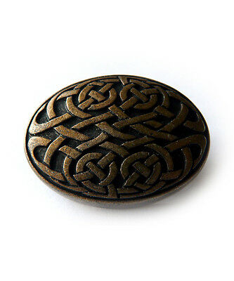 10 pcs CELTIC KNOT OVAL CONCHO AM Conchos Ancient Rivet Viking Leather Crafters