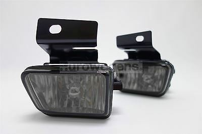VW Golf MK2 Crystal Smoked Front Fog Lights Lamps Pair Set Driver Passenger