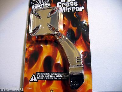 1 West Coast Choppers Maltese iron cross decorative mirror in Chrome