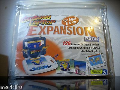 New sealed Geo Safari Laptop Expansion Pack 126 lessons 3 - 7 Edition 8 years up