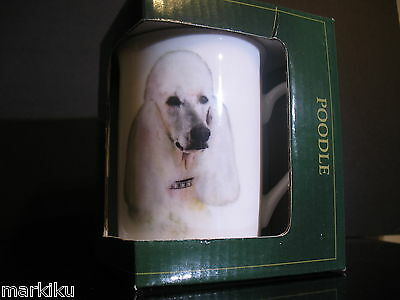 New White French poodle Dog Best of Breed Drinking Cup tea coffee Mug