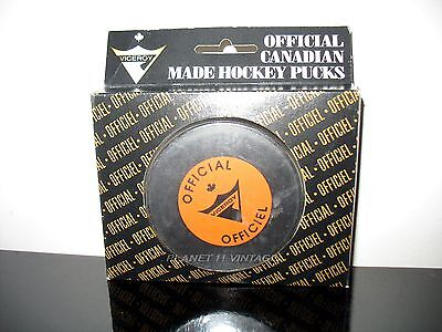 NEW NOS  Vintage Official Canadian made Viceroy hockey puck 5 3/4oz