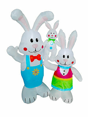 BZB Goods Easter Inflatable Cute Bunny Family Decoration