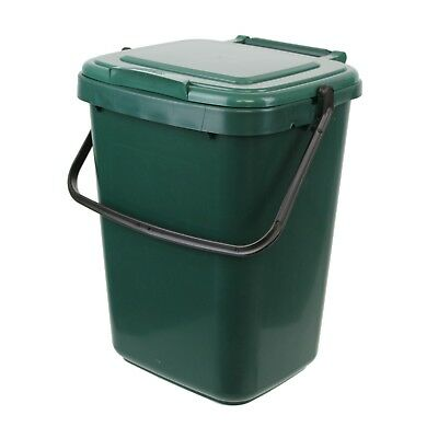 Large Green Kitchen Compost Caddy - Kitchen Food Compost Bin 10L (10 Litre)