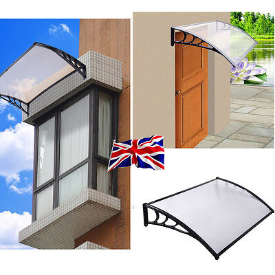 Door Canopy Awning Shelter Front Back Porch Outdoor Sun Rain Shade Cover 240CM