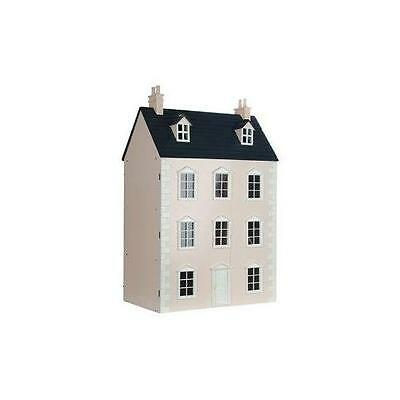 The Dartmouth Ready to Assemble Dolls House Dartmouth Painted Pink 12th Scale