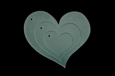 A set of 3 curved heart stencils for quilting or appliqué