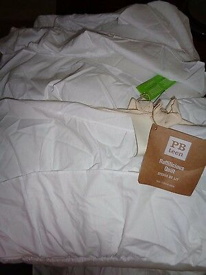 Pottery barn TEEN RUFFILICIOUS QUILT-TWIN-WHITE-NEW IN PLASTIC