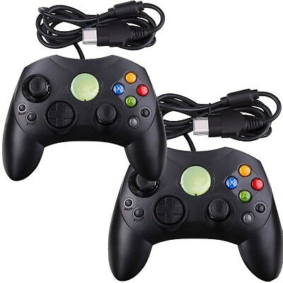 2 X NEW Black Wired Controller Control Pad for Original Microsoft XBOX System