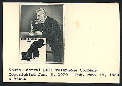 "Unique ""south Central Bell Telephone Company"" Vignette Die Proof Bt3624"