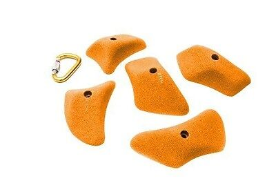 ETCH Slopey Pinches Climbing Hold, Orange