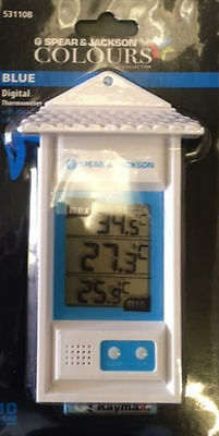 Spear And Jackson Digital Thermometer Colours Range Garden Thermometer