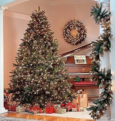 The Christmas Workshop 200 LED Pre Lit Frosted Berry Christmas Tree Warm White