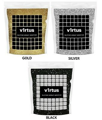 v1rtus Glitter Grout Additive Silver, Gold or Black 100g Tiles Wall Floor Mosaic