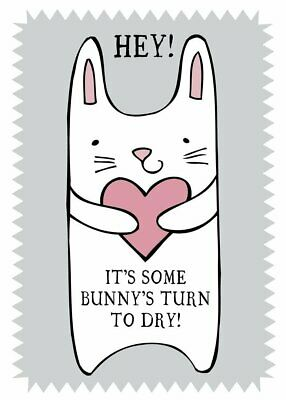 Funny Tea Towel - 100% Cotton - IT'S SOME BUNNY'S TURN Home & Dry Novelty