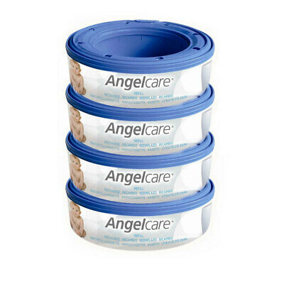 Angelcare 4PK Baby Nappy Diaper Disposal Cassette Refill for Disposal System/Bin