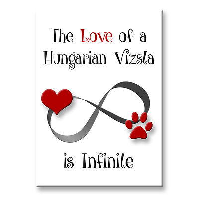 HUNGARIAN VIZSLA Infinite Love FRIDGE MAGNET
