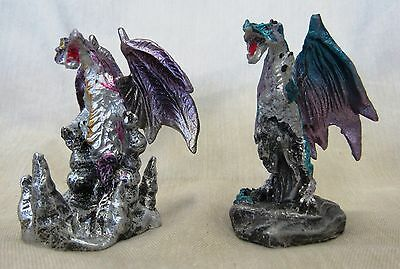 Miniature Dragons Set-2 Statue Fantasy Mythical Gothic Magic Figure Ornament -F