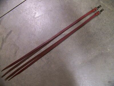 Leather Saddle Strings with Clip & D-Ring Hardware Heavy Duty Strings Burgundy