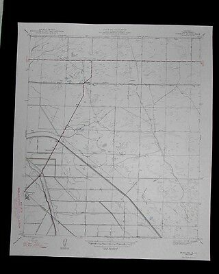 Jamesan California vintage 1947 old USGS Topo chart