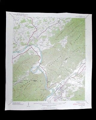 Erwin Tennessee vintage 1954 old USGS Topo chart