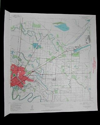 East Brownsville Texas vintage 1961 old USGS Topo chart