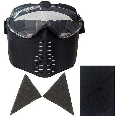 Black CS Game Airsoft Masks Lens Paintball Protective Outdoor Cosplay