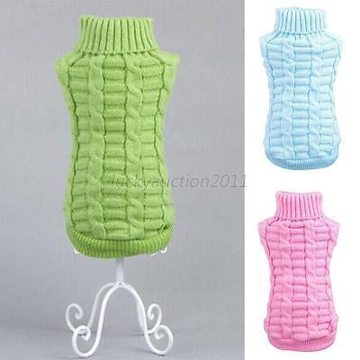 Small Puppy Dog Clothes Winter Sweater Knitwear Warm Apparel Coat Pet Clothing