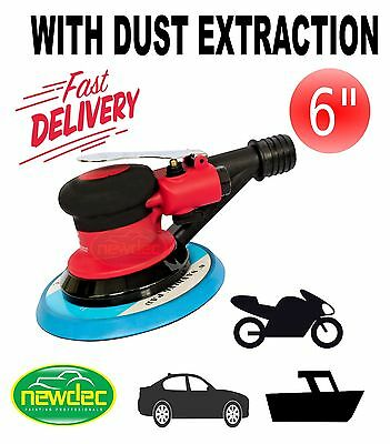 "6"" ORBITAL DUAL ACTION AIR PALM SANDER 150mm PAD POWER POLISHER SHEET SANDING"