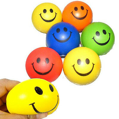 Hot Baby Boys Girls Lively Smiling Face Squishy Ball Squeeze Toy Reliever Random