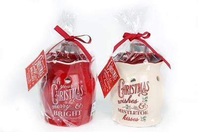 CHRISTMAS OIL BURNER SET - Fragranced Tealight & Wax Melts, Beautiful XMAS Pack