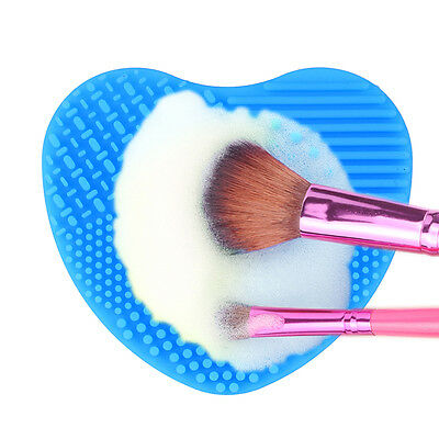 Silicone Makeup Brush Clean Washing Scrubber Board Cosmetic Cleaning Mat 2 Color