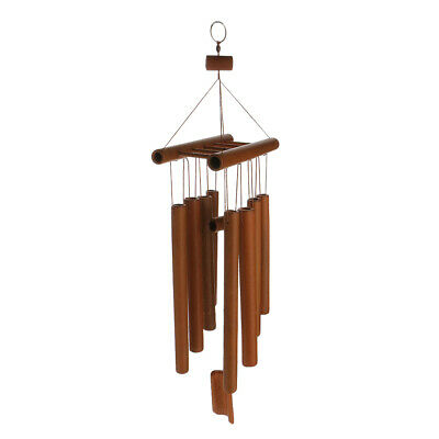Handmade Windchimes Wind Chime Bamboo 8 Tubes Rustic Hanging Ornament Home Decor