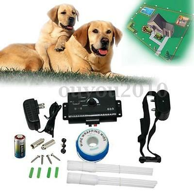 Waterproof Underground Electric Dog Pet Fence Fencing Shock Collar System New