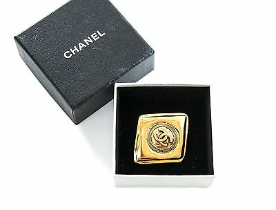Authentic Chanel vintage diamond shaped Brooch