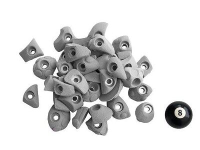 Atxarte Bolt-On Feet Climbing Holds, Grey