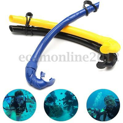 """New 15.55"""" Flexable Silicone Underwater Snorkel Diving Snorkeling Scuba Air Tube"""