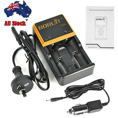 Universal BORUIT C2e Intelligent Charger For 18650 26650 Ni-MH/Li-ion AA Battery