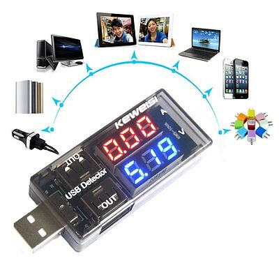 USB Current Voltage Tester USB Voltage Ammeter USB Detector Double Row Shows CA